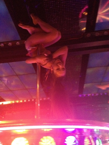 Oh yeah, and random pole dancers on moveable platforms. No wonder the boys have been here a few times...