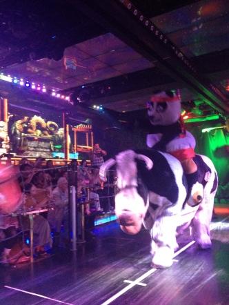 Kung-fu Panda and his bovine companion